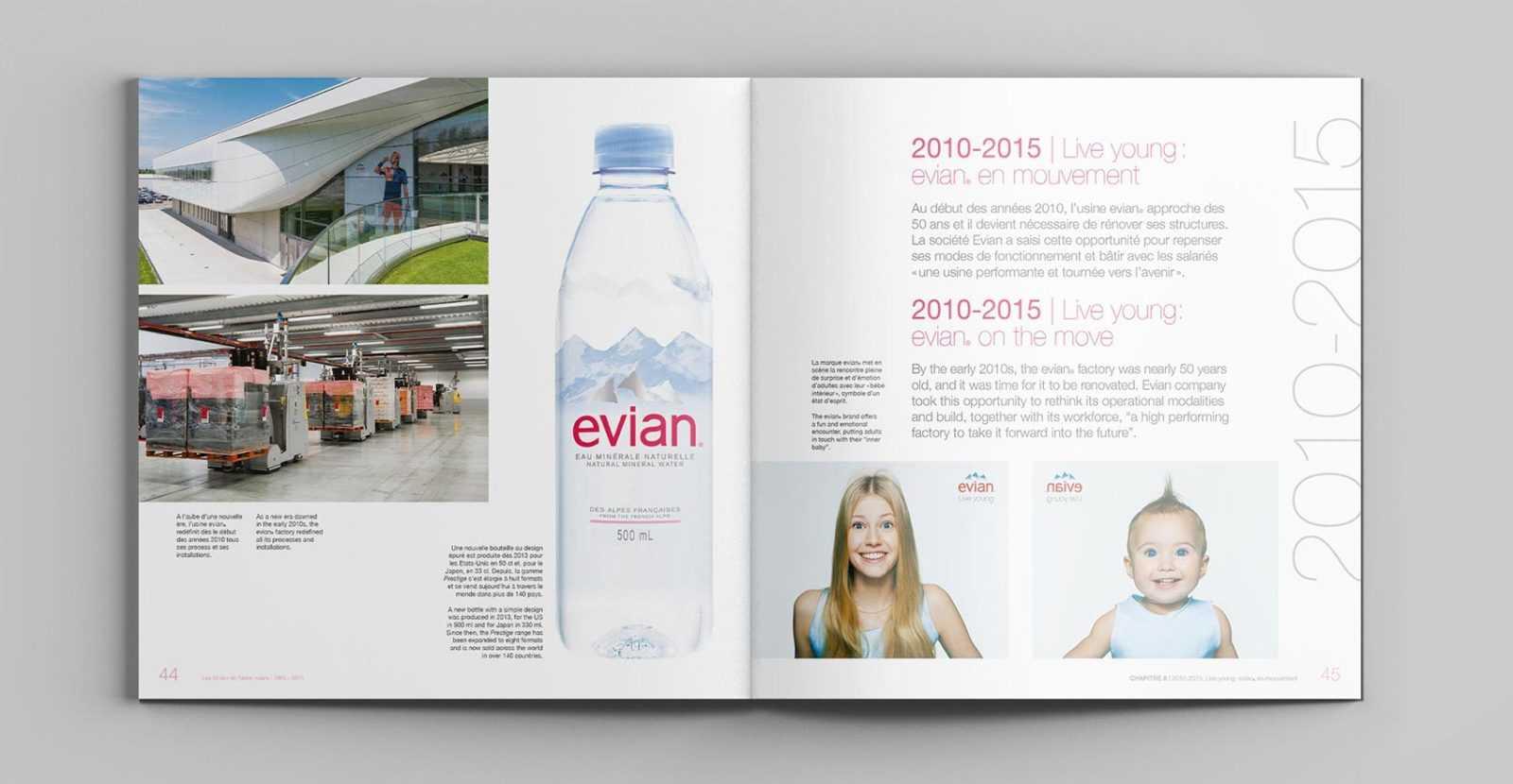 EVIAN, client référence de L'HIRONDELLE, agence de communication parisienne