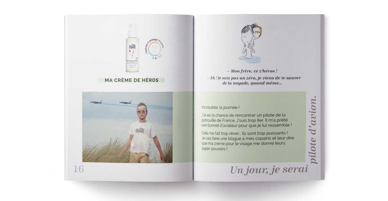 OUATE, référence client de L'HIRONDELLE agence de communication parisienne
